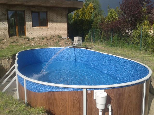 Ukázka plnění bazénu
